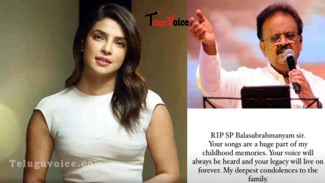 Priyanka Chopra Jonas Mourns SP Balasubrahmanyam's Demise teluguvoice