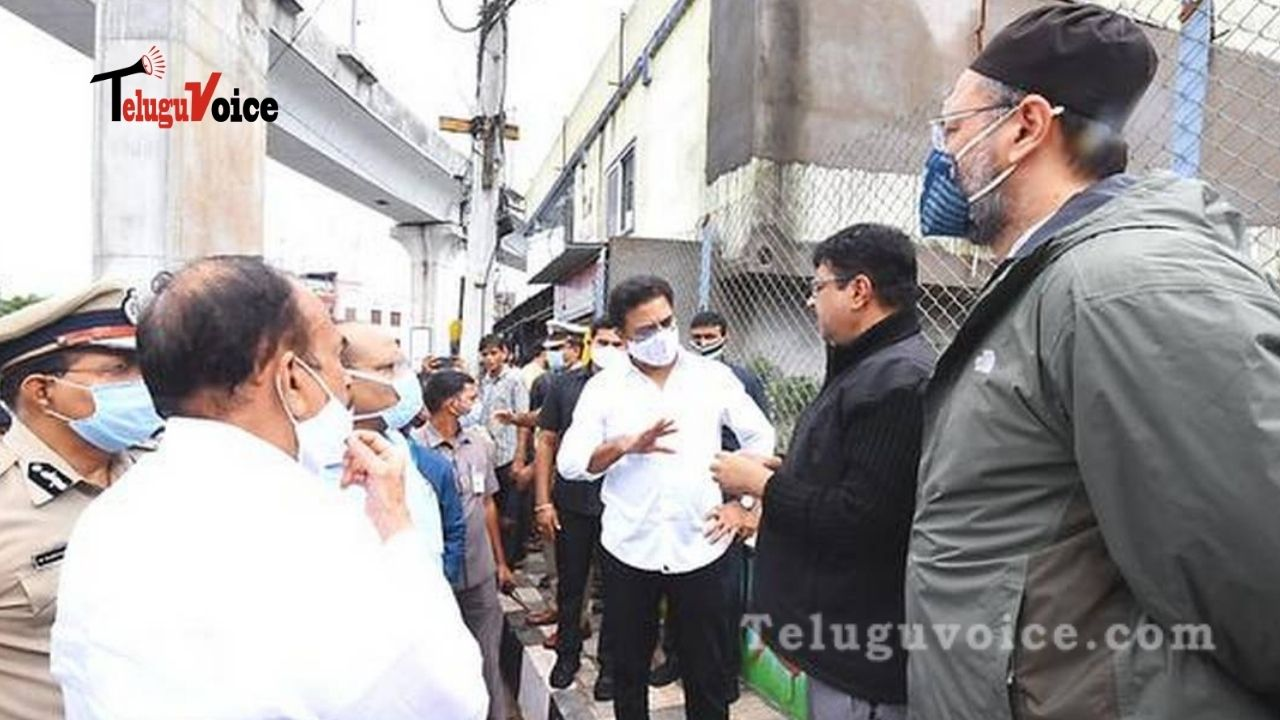KTR Visits Rain Affected Areas, Provide Assurance teluguvoice