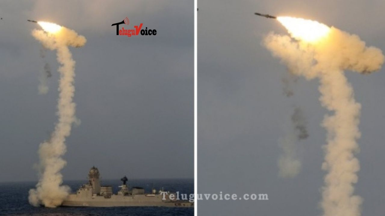 India Successfully Test-Fires BrahMos Missile From INS Chennai teluguvoice