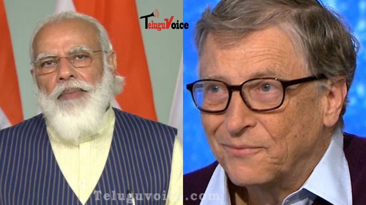 Bill Gates Calls India Inspiring, PM Modi At The Grand Challenges Annual Meet 2020 teluguvoice