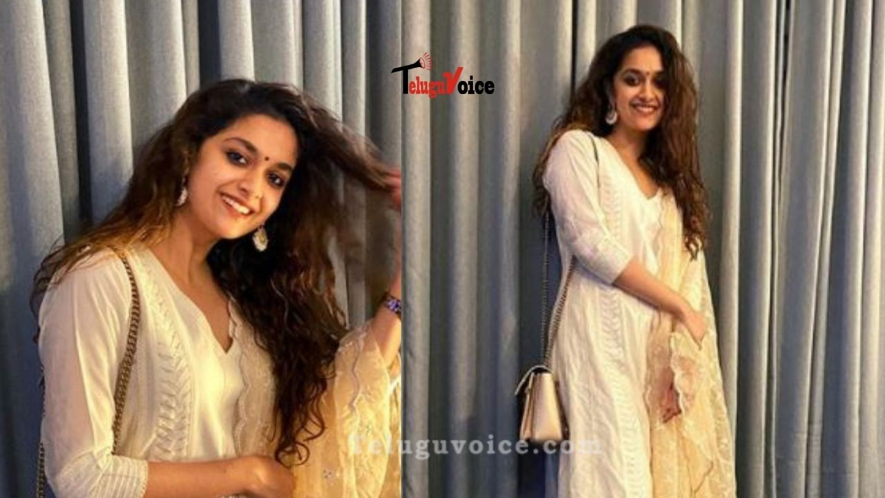 Check Out Keerthy Suresh's Festive Look! teluguvoice
