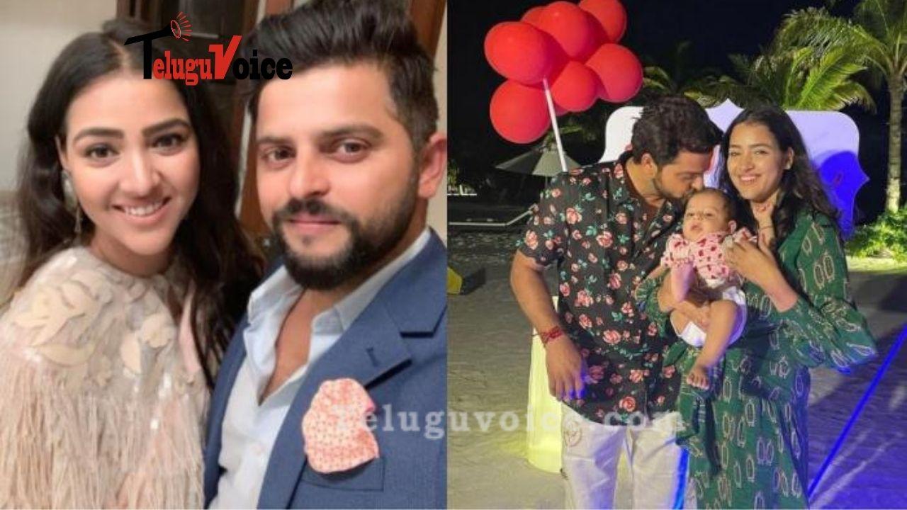 Suresh Raina Celebrates His Birthday With Family In Maldives teluguvoice