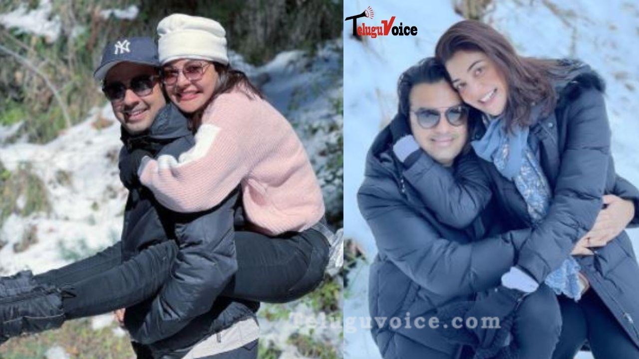 Kajal Aggarwal Chilling With Hubby In Shimla teluguvoice