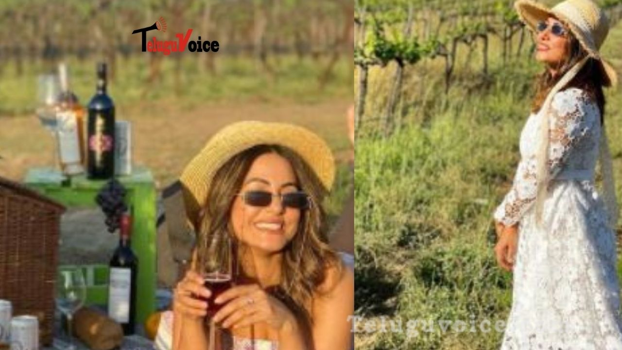 Pic Talk: Hina Khan In Grape Vineyard teluguvoice