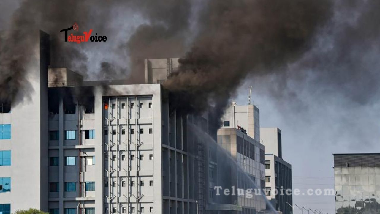 Massive Fire Broke Out At The Serum Institute  teluguvoice