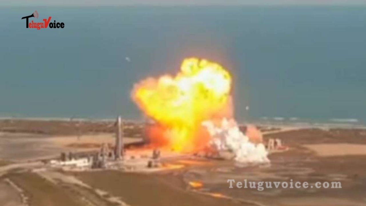 Spacex Starship Prototype SN9 Explodes On Landing After Test Launch teluguvoice