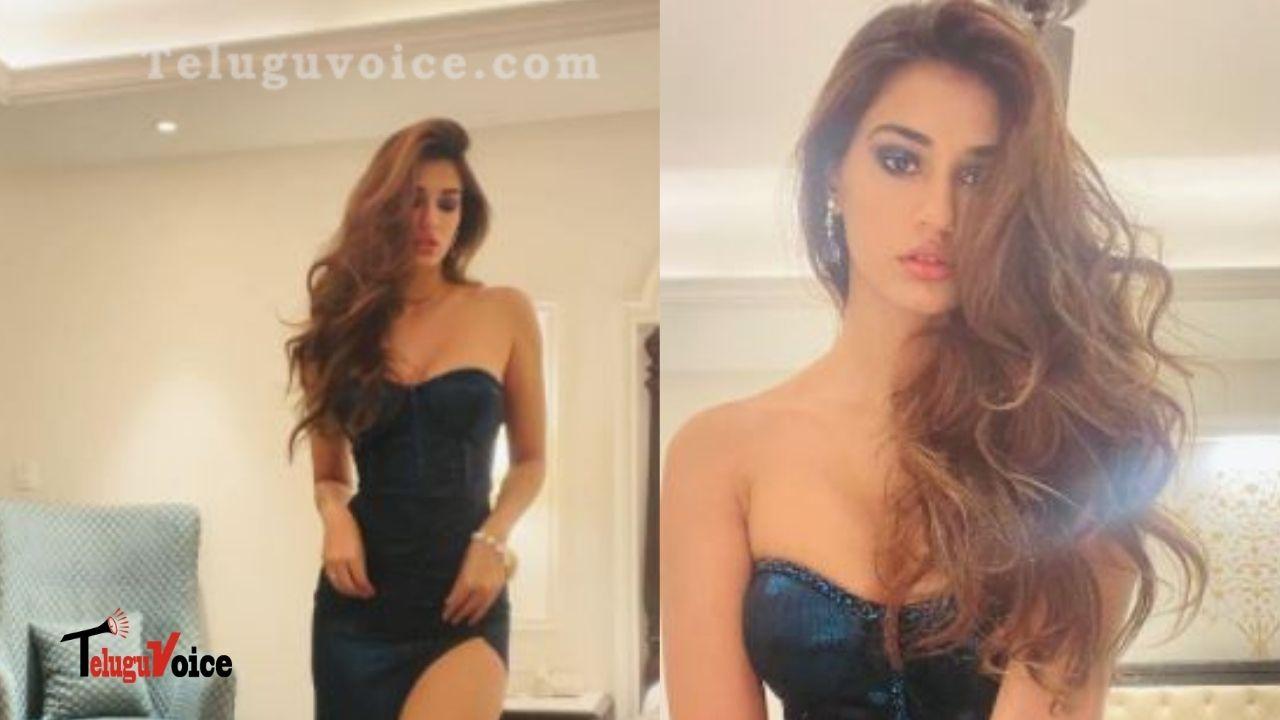 Pic Talk: Disha Patani Looks Gorgeous In A Thigh-High Slit Dress teluguvoice