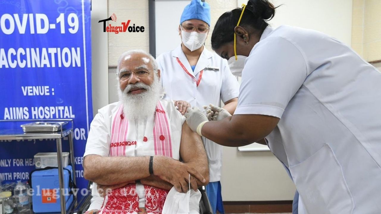 Narendra Modi Takes First Dose Of Coronavirus Vaccine teluguvoice