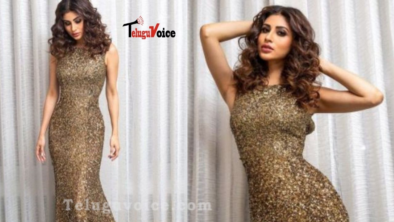 Pic Talk :Mouni Roy's Photoshoot In A Golden Shimmer Dress Is Stunning teluguvoice