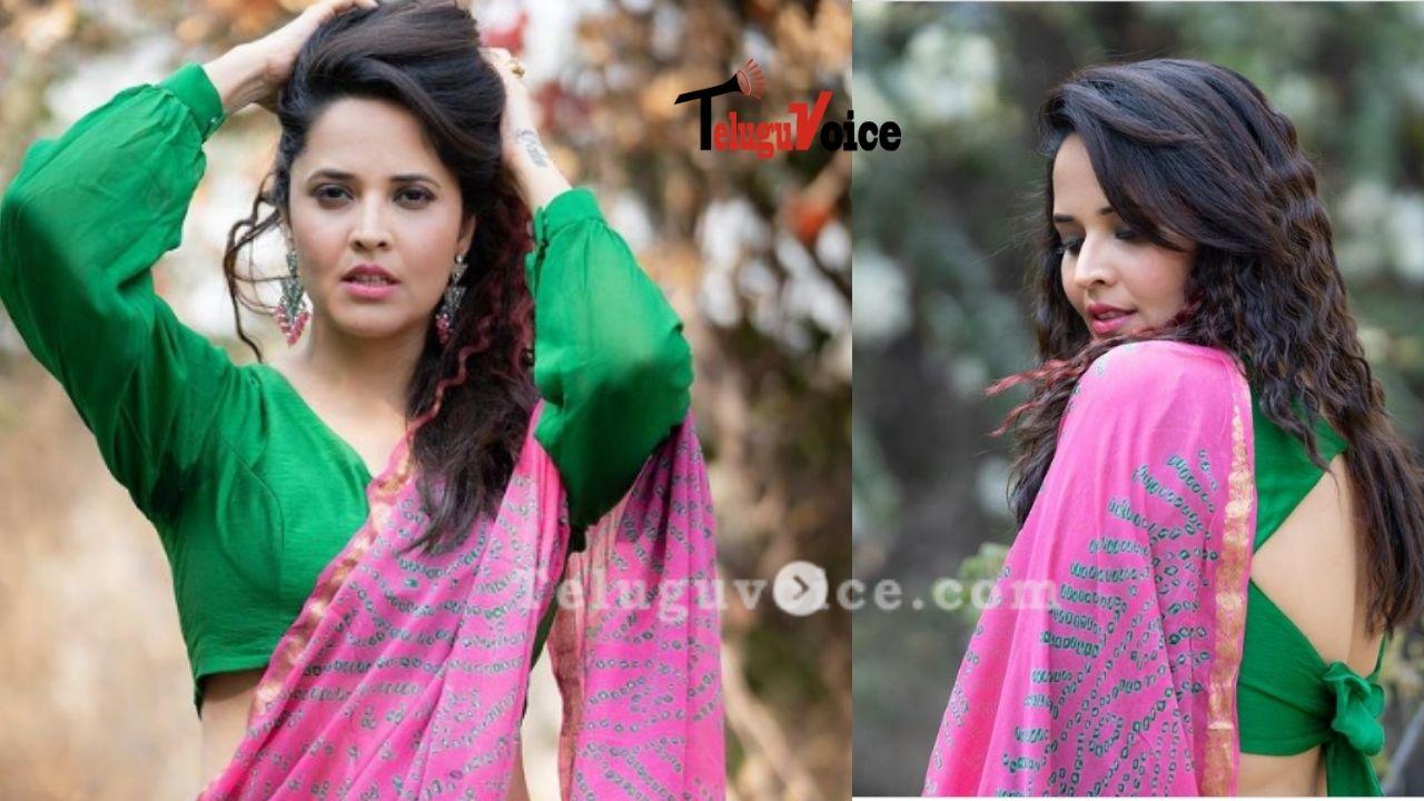 Anasuya Bharadwaj Raising Temperature With Her Latest Images  teluguvoice