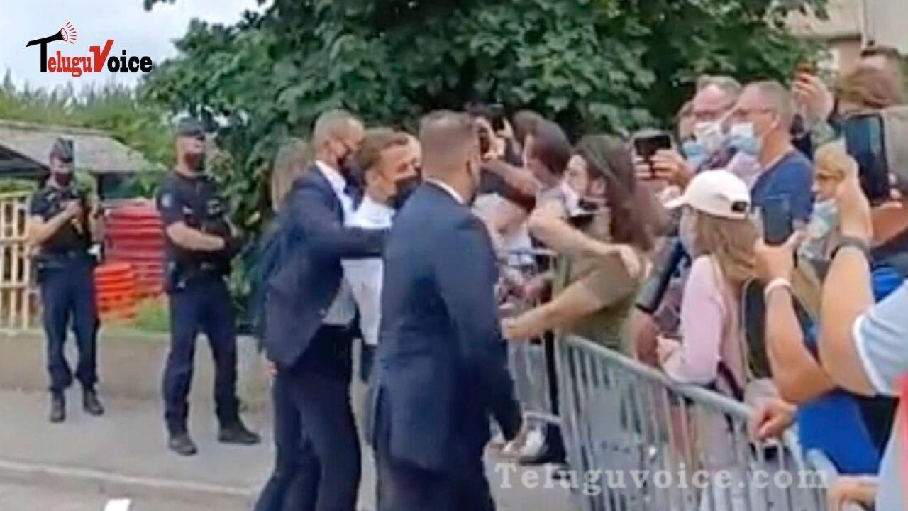 French President Slapped In The Face teluguvoice