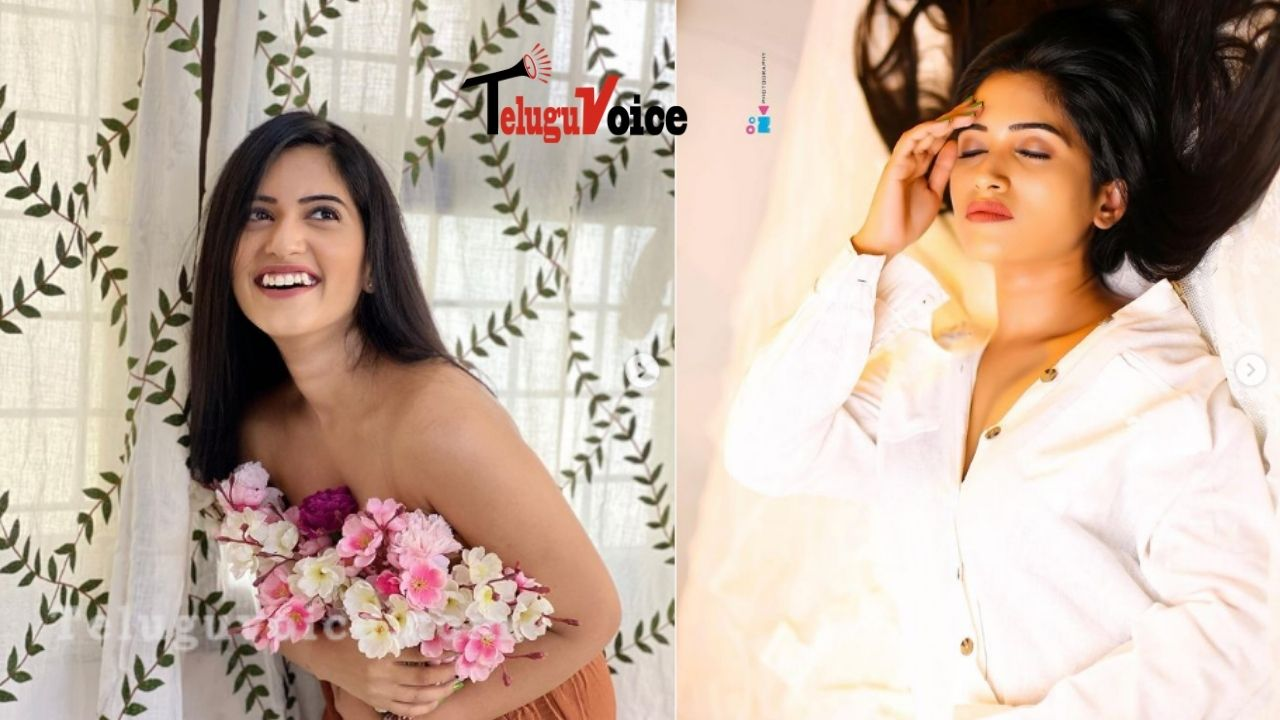 This Anchor Sizzles Everyone With Her Flower Photoshoot teluguvoice