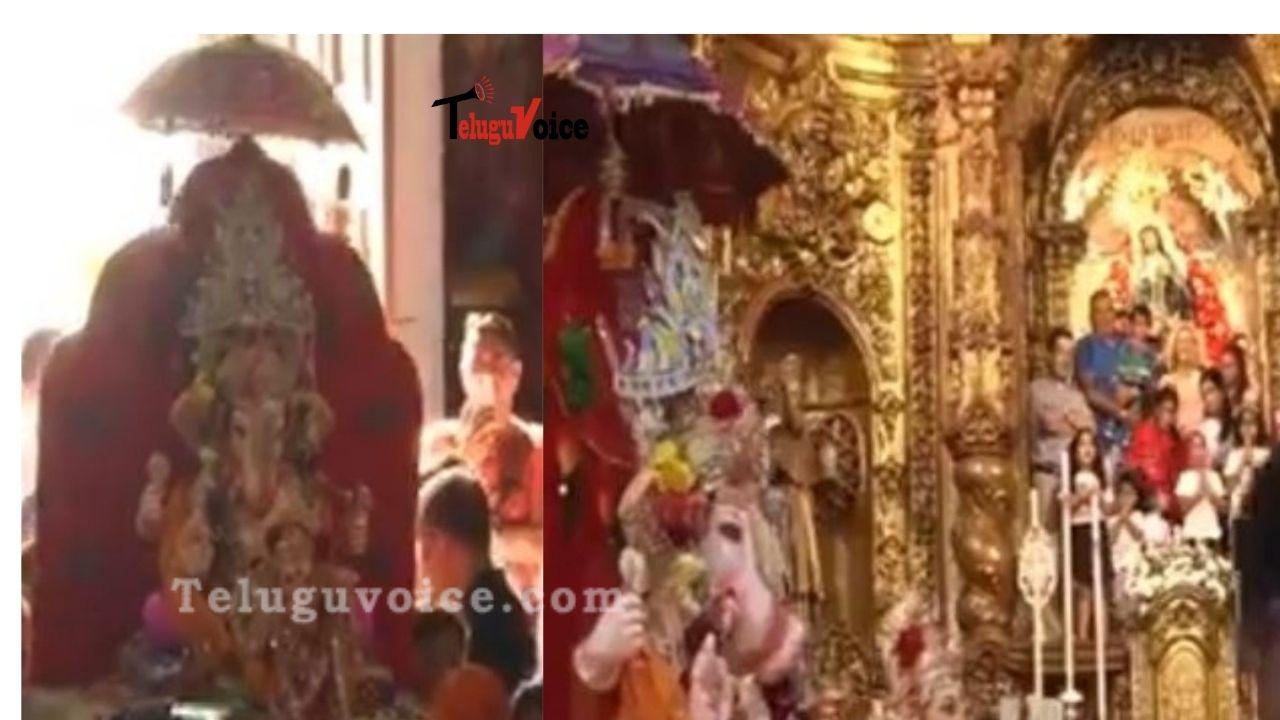 Viral: Ganpati Bappa met Jesus in Spain teluguvoice