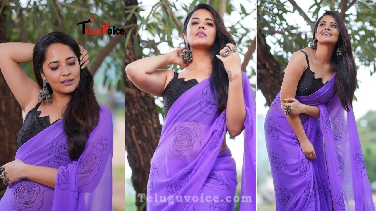 Hot Host Glamour Show In Saree teluguvoice