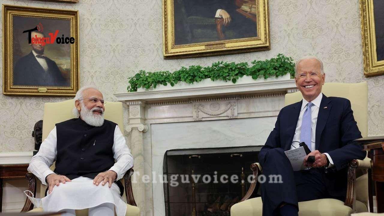 PM Modi Raises The Issue Of H-1B Visas With President Biden. teluguvoice