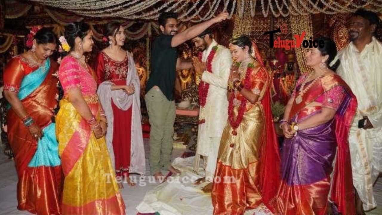 Varudu Kavalenu Team surprises newlyweds  teluguvoice